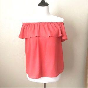 Anthropologie Tops - Anthropologie Maeve brand off the shoulder blouse
